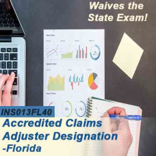 Florida: 40 hr 6-20 -All Lines Accredited Claims Adjuster Designation Online Course (INS013FL40) Grant