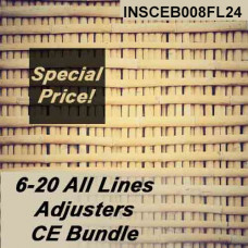 Florida: 24 hr CE  6-20 All-Lines Adjusters CE Bundle for 2020 and 2021