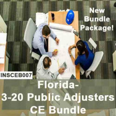 Florida:  24  hr CE - 3-20 Public Adjusters CE Course Bundle